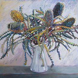 ChristineWebb, Cape Schank Flowers II,60x60cm SOLD