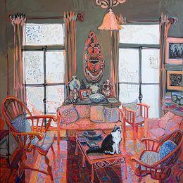 SOLD 2013, Robin's Nest,138x138-acrylic-oil-canvas