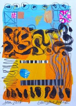 Christine Webb Beach Moonah Mixed Media on Paper 42x30cm e
