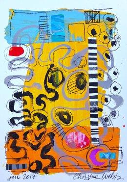 Christine Webb Beach Swirls Mixed Media on Paper 42x30cm e