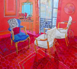 Available through Art2Muse Double Bay Sydney Christine Webb French Conversation Acrylic on Canvas 122x137cm