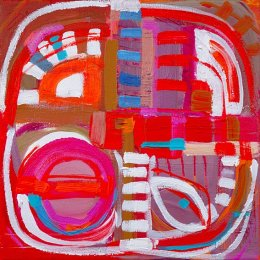 Christine Webb Hot Rhythms Number 3 Acrylic on Canvas 25x25cm e