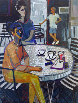 Christine Webb Ladies at the Bar Acrylic on Canvas 80x60cm SOLD