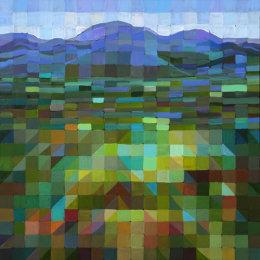 Christine Webb Landscape Alta Val di Tevere 60x60cm e