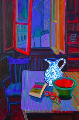 Christine Webb Night Table 60x40cm SOLD