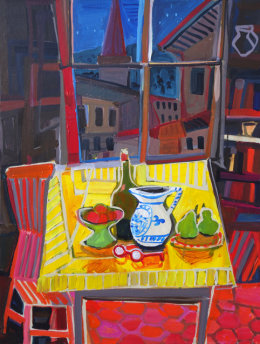 Christine Webb Night Table Tilt 70x50cm SOLD