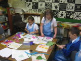 Translating our drawings into felted images.