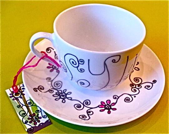 ~dOoDLe cup + saucer~