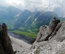 Looking over The Dolomites
