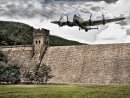 Top Lancaster Flying over Derwent Dam by Brian Spray