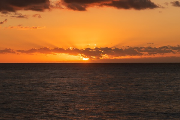 Sunset over the Canary Islands