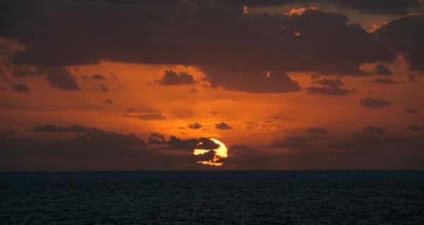 Sunset off Lanzarote