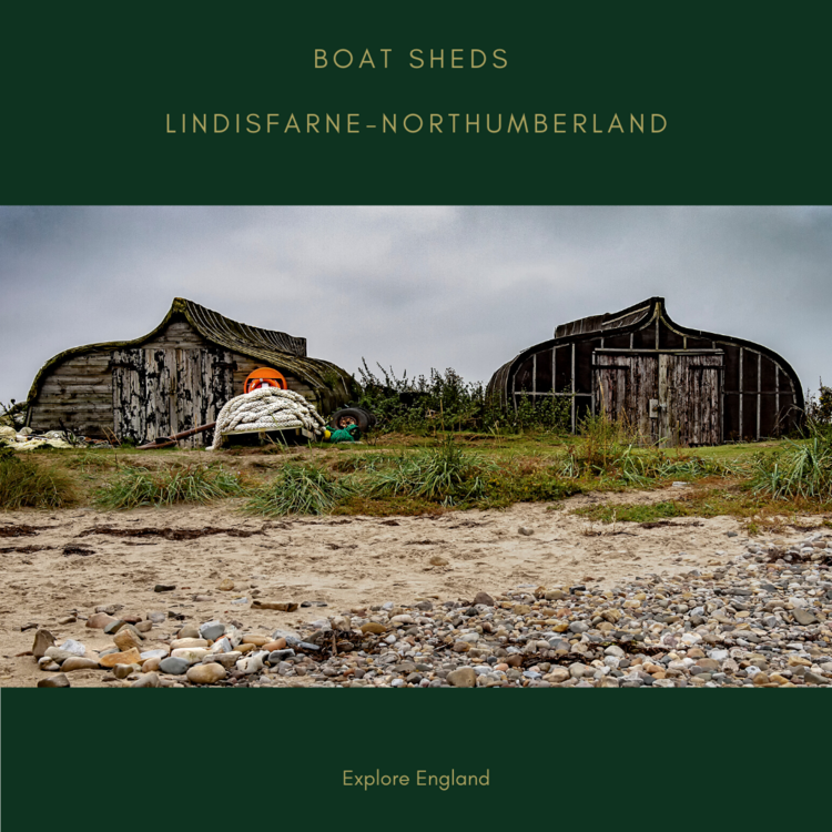 Boat Sheds on Lindisfarne Northumberland