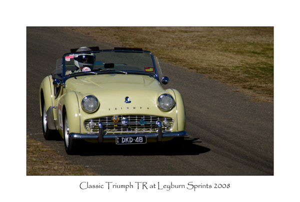 Classic Triumph TR Races at the Leyburn Sprints