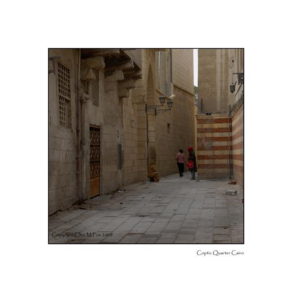 Typical Street scene in Coptic Cairo