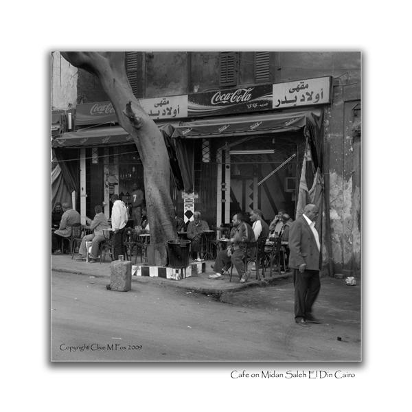 Cafe on Midan Saleh El Din in mono