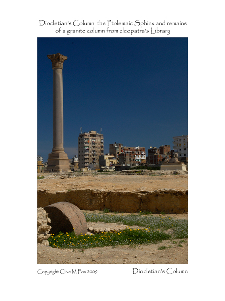 Diocletian's Column and Ptolemaic Sphinx Alexandria