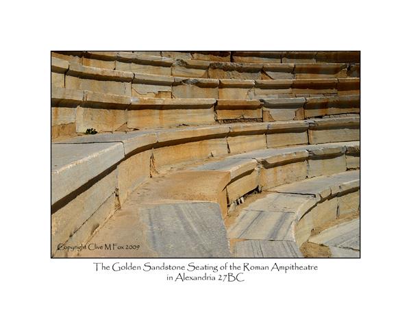 Roman Ampitheatre Sandstone Seating