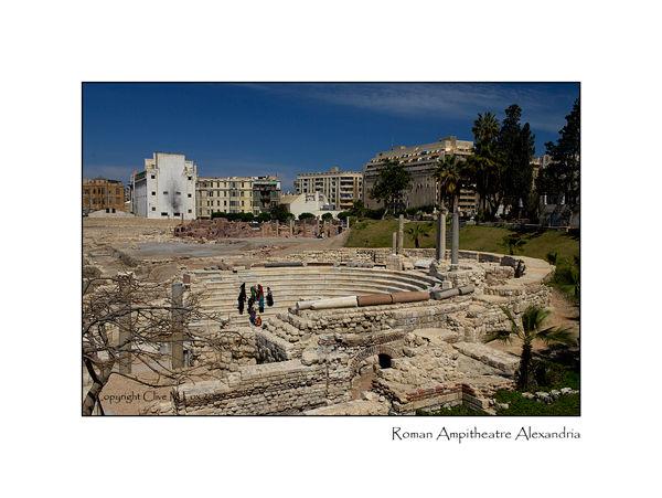 View of the Roman Ampitheatre Alexandria