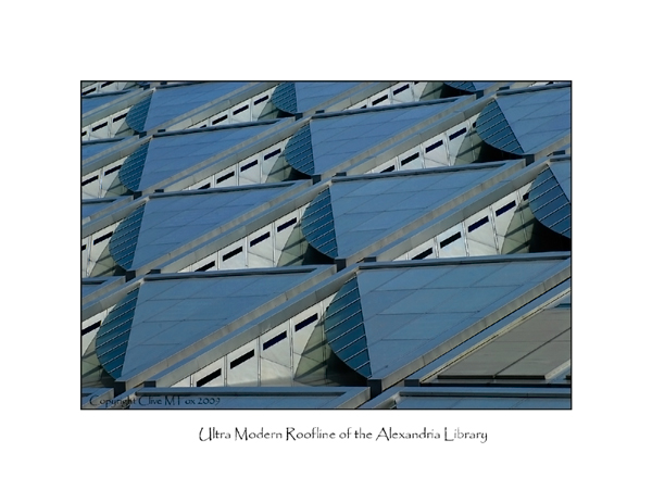 Modern Roofline of the Alexandria Library