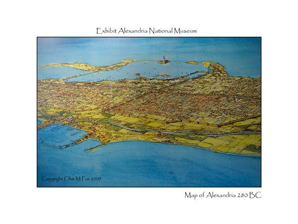 Map of Alexandria 280BC