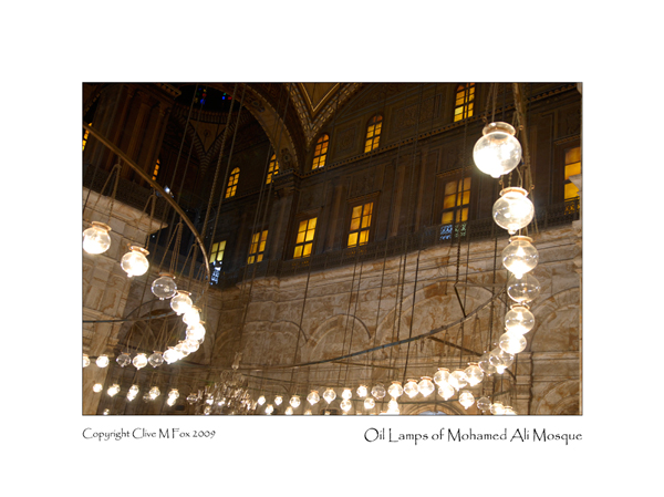 Oil Lamps of Mohammed Ali Mosque <br>