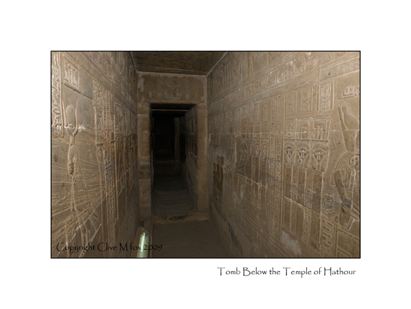 Carved Passageway beneath temple of Hathour