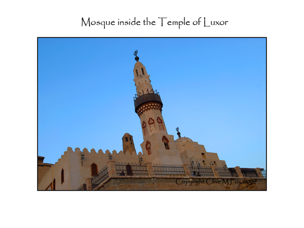 Mosque built inside the Temple of Luxor