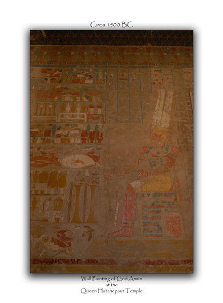 Wall Painting of God Amun