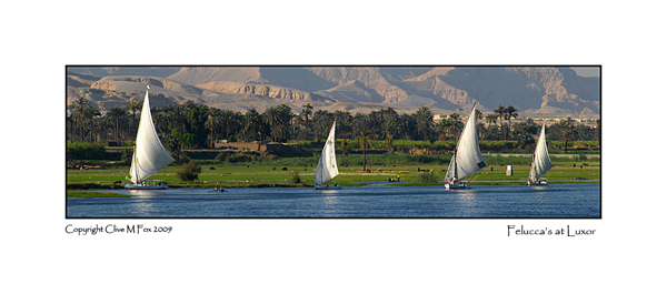 View of the West Bank of the Nile from Luxor