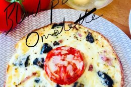 Black pudding & Tomato Omelette