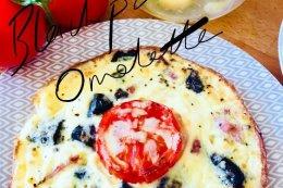 Black pudding & Tomato Omelette