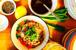 Roast Duck & Rice Noodles with Hoi sin Dressing