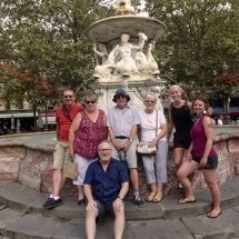 At the Neptune Fountain in Place Carnot