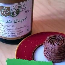 Blanquette de Limoux Méthode Ancestrale with Gâteau au chocolat