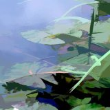 Blue-Waterlillies