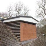 Dormer roof in progress using polyester felt
