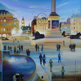 Night-time in Trafalgar Square