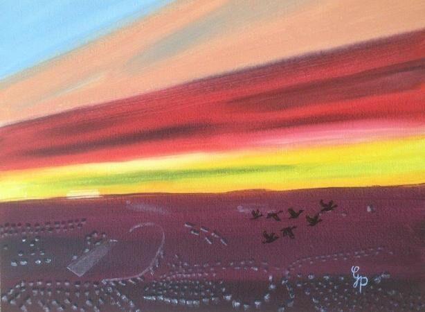 """Winter Sky over the Lang Toun"" by Gabi Piche-Paterson"