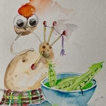"""""""Maris Piper plays the Pea Broth (pibroch)"""" by Moira MacPherson"""