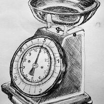 """""""Kitchen Scales"""" by Jan Callender"""