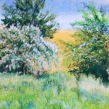 'Hawthorns and Bluebells' by Joan Patterson