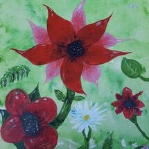 """Flower Burst"" by Liz Barclay"