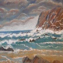 """Stormy sea and sky"" by Judith Jaggard"