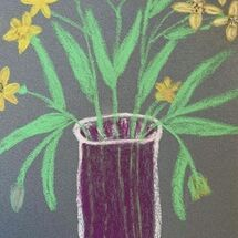 """Daffodils in a vase"" by Hazel Campbell"