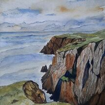 """The Cliffs at Mull of Galloway"" by Judith Jaggard"