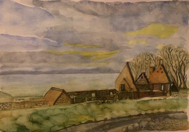 """St Bridget's Kirk, Dalgety Bay"" by Jan Callender"