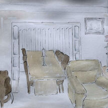 """""""Lounge through to Dining Room"""" by Gwynith Young"""