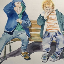 """""""A couple of to-rags cooking up some mischief"""" by Moira Macpherson"""
