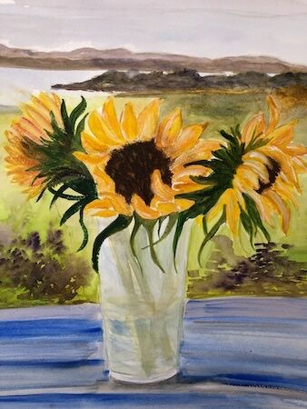 """August task - """"Into the distance"""" by Barbara Wade"""